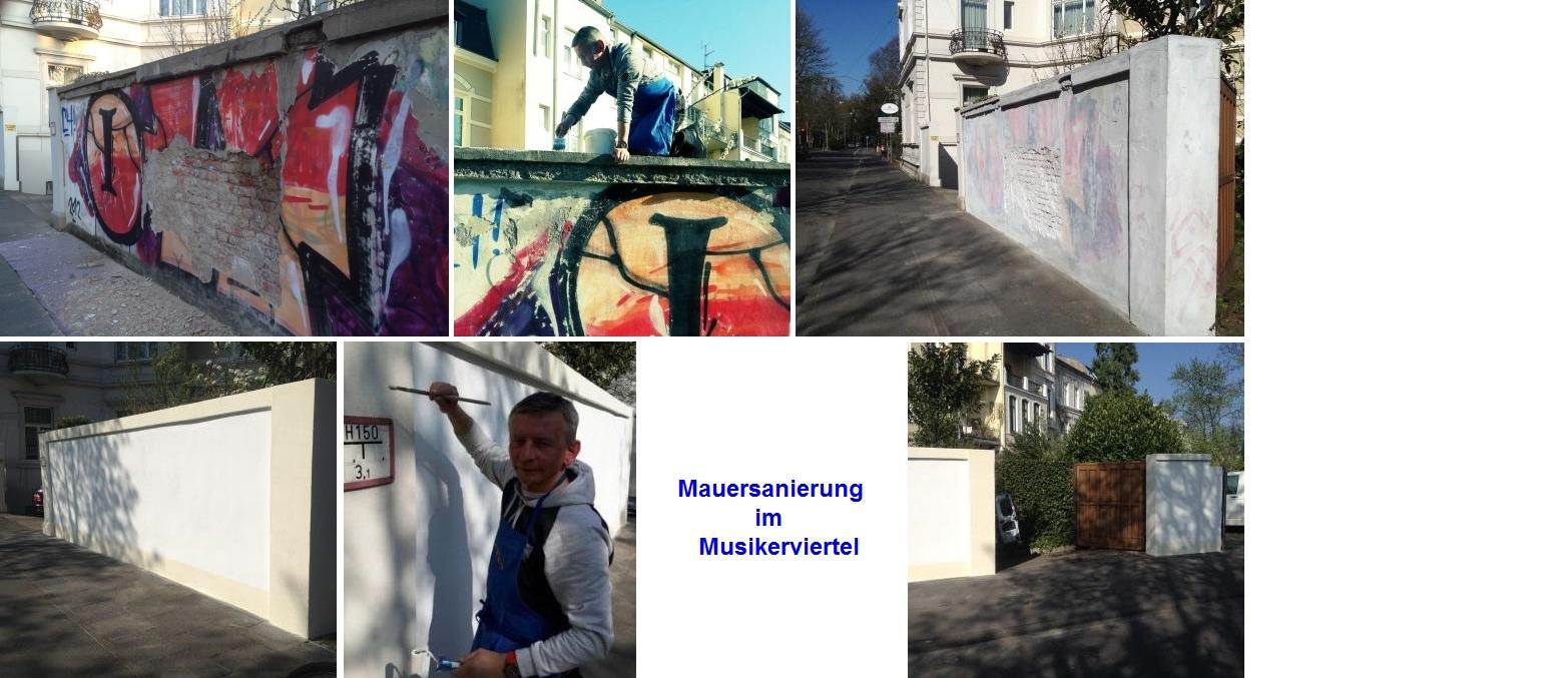 Mauersanierung im Musikerviertel